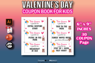Valentine's Day Coupon Book for Kids Graphic KDP Interiors By Engine Kdp Market
