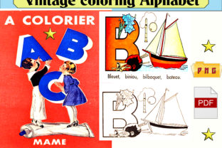 Print on Demand: Vintage Coloring Alphabet Child (1938) Graphic Coloring Pages & Books Kids By kdp Edition