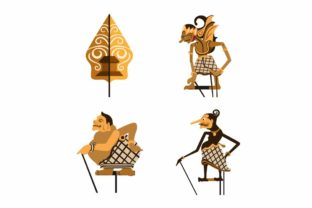 Print on Demand: Wayang Indonesian Puppet Icon Set Vector Graphic Icons By aryo.hadi