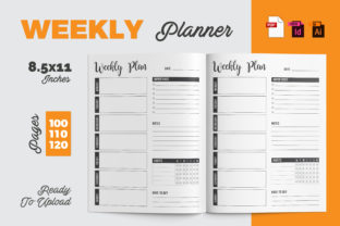 Weekly Planner | KDP Interior Graphic KDP Interiors By iCreativee