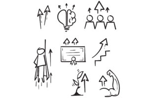 Print on Demand: Doodle Simple Set of Personal Growth Graphic Icons By GwensGraphicstudio