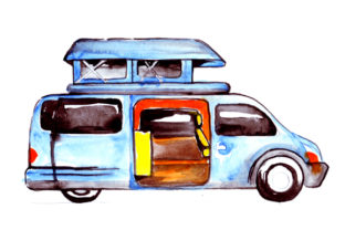 Campervan with Popup Roof Cars Craft Cut File By Creative Fabrica Crafts