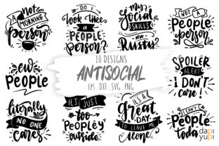 Antisocial Quotes Bundle Graphic Crafts By dapiyupi