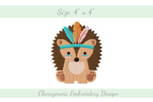 Baby Hedgehog Baby Animals Embroidery Design By CherrymoiaEmbroidery