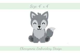 Baby Husky Dogs Embroidery Design By CherrymoiaEmbroidery