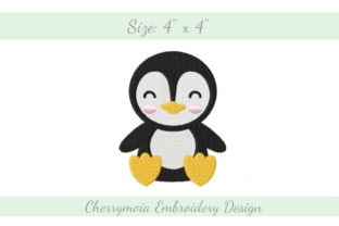 Baby Penguin Baby Animals Embroidery Design By CherrymoiaEmbroidery