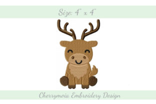 Baby Reindeer Baby Animals Embroidery Design By CherrymoiaEmbroidery