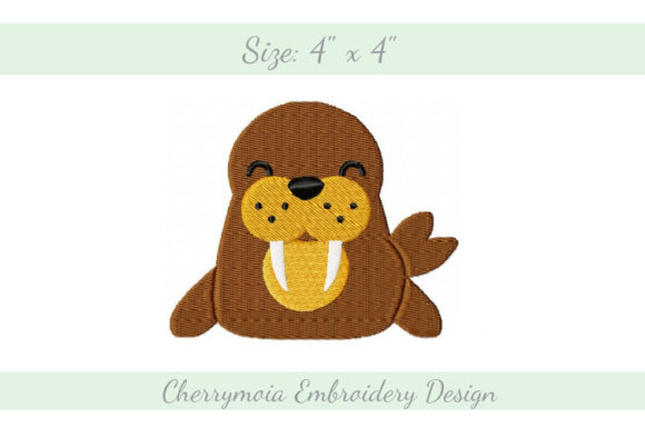 Baby Walrus Baby Animals Embroidery Design By CherrymoiaEmbroidery
