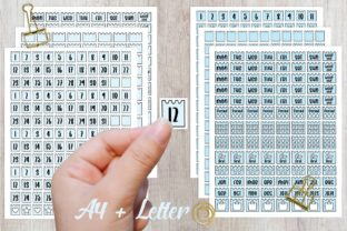 Print on Demand: Bullet Journal Stickers - Light Blue Graphic Print Templates By PlannerPea