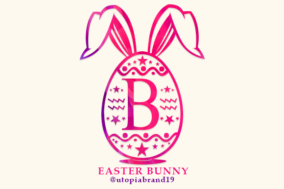 Print on Demand: Easter Bunny Monogram Decorative Font By utopiabrand19