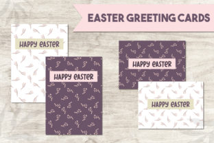 Print on Demand: Easter Greeting Card Easter Template Graphic Print Templates By Art's and Patterns
