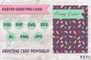 Print on Demand: Easter Greeting Card Graphic Print Templates By Art's and Patterns