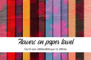 Print on Demand: Floral Paper Towel Graphic Textures By Andrea Kostelic