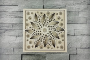 Print on Demand: Layered Mandala, Cut File, 3D Flower Graphic 3D Flowers By vectormarket