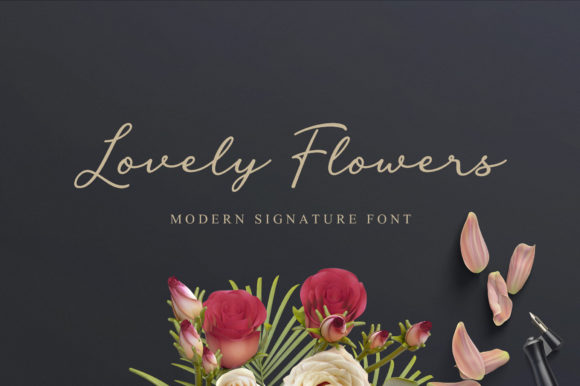Print on Demand: Lovely Flowers Script & Handwritten Font By fargunstudio