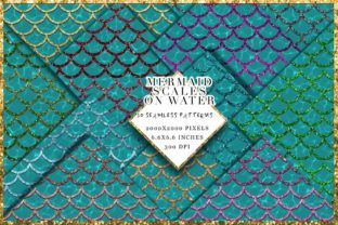Print on Demand: Mermaid Texture 10 Seamless Patterns Graphic Patterns By TheGGShop