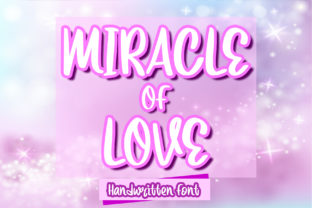 Print on Demand: Miracle of Love Display Font By boogaletter
