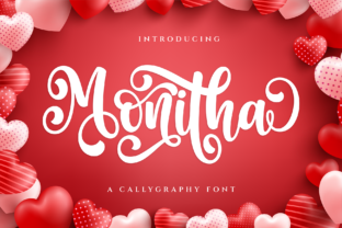 Print on Demand: Monitha Script & Handwritten Font By Graphicxell