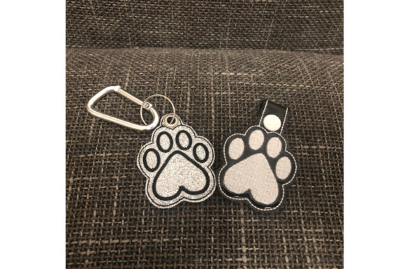 Paw Key Fob ITH Embroidery Download