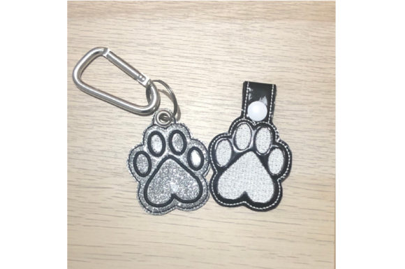 Paw Key Fob ITH Embroidery Item