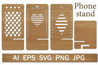 Print on Demand: Phone Stand Template Graphic Crafts By lesinka