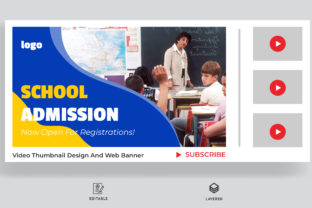 School Education Admission Video Cover Graphic Websites By sohagmiah_0