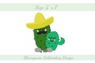 Sombrero Cactuses South America Embroidery Design By CherrymoiaEmbroidery