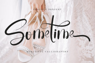 Print on Demand: Sometime Script & Handwritten Font By GufronKFM
