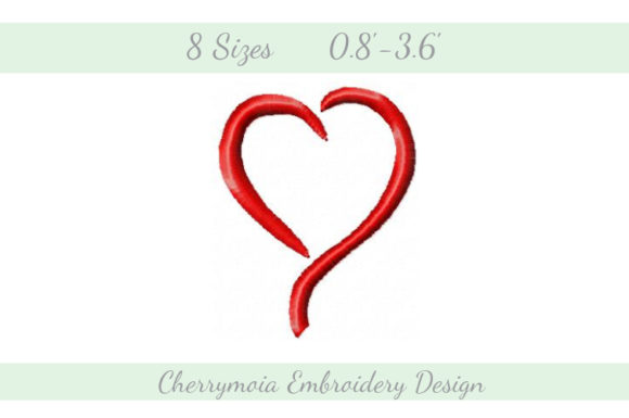 Sophisticated Heart Valentine's Day Embroidery Design By CherrymoiaEmbroidery