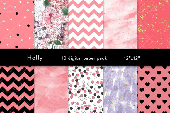 Spring Digital Paper Graphic Patterns By SincerelyNix