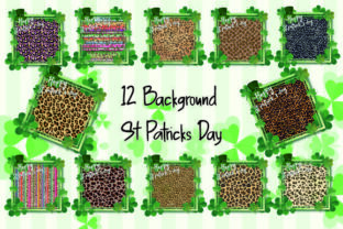 Print on Demand: St Patrick Day Background Sublimation Graphic Backgrounds By DenizDesign