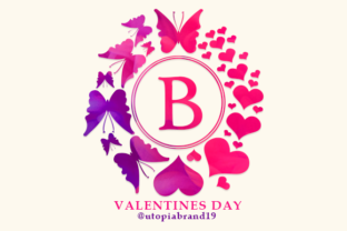 Print on Demand: Valentines Day Monogram Decorative Font By utopiabrand19