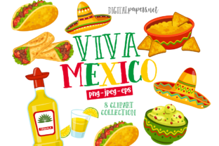Print on Demand: Viva Mexico Clipart Graphic Illustrations By DigitalPapers