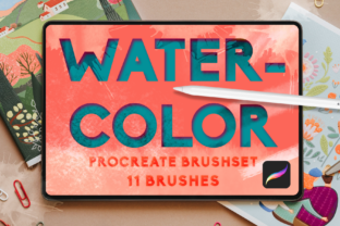 Print on Demand: Watercolor Procreate Add Ons Bundle Pack Graphic Brushes By Inkclouddesign