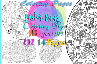 Print on Demand: 14Easter Eggs Coloring Templates Spring Graphic Coloring Pages & Books Adults By Anna Tarach
