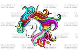 CUTE UNICORN DESIGN CLIPPRT PNG DESIGN Graphic Illustrations By Fundesings