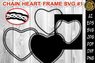 Print on Demand: Chain Heart Border Frame SVG Cut Files 1 Graphic Print Templates By V-Design Creator