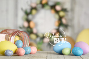 Easter Egg Background Tabletop Mockup Graphic Holidays By Mockup Central