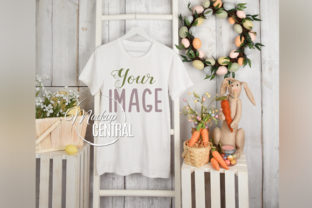 Easter T-Shirt Apparel Mockup on Hanger Graphic Product Mockups By Mockup Central