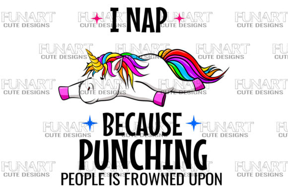I Nap, Cool Unicorn Design, Sublimation Graphic Download