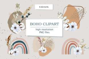 Modern Boho Neutral Color Rainbows Graphic Illustrations By lena-dorosh