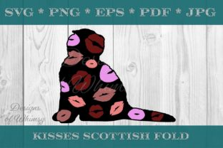 Scottish Fold Cat Kisses Graphic Crafts By Designs of Whimsy