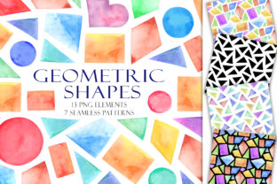 Print on Demand: Set of Watercolor Geometric Shapes Graphic Illustrations By TanyaPrintDesign