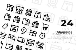 Shopping and Commerce Icon Sets Grafik Icons von Ongy