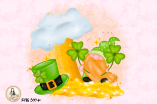 Print on Demand: St Patrick's Day Gnomes Cute Sublimation Graphic Illustrations By Suda Digital Art