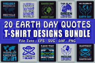 Print on Demand: Trendy Earth Day Quotes T-shirt Designs Grafik Druck-Templates von CraftStudio