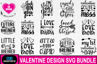 Print on Demand: Valentine Svg Bundle Graphic Graphic Templates By BDB_Graphics