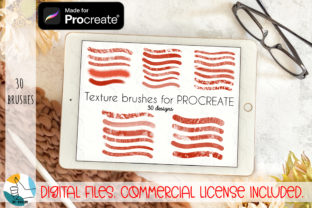 30 Texture Brushes Bundle for Procreate. Graphic Brushes By OK-Design