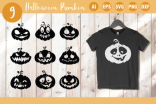 9 Variant Pumpkin Silhouette Graphic Crafts By AllmoStudio