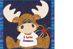 American Moose with Fireworks Gráfico Quilt Patterns Por seamstobesew